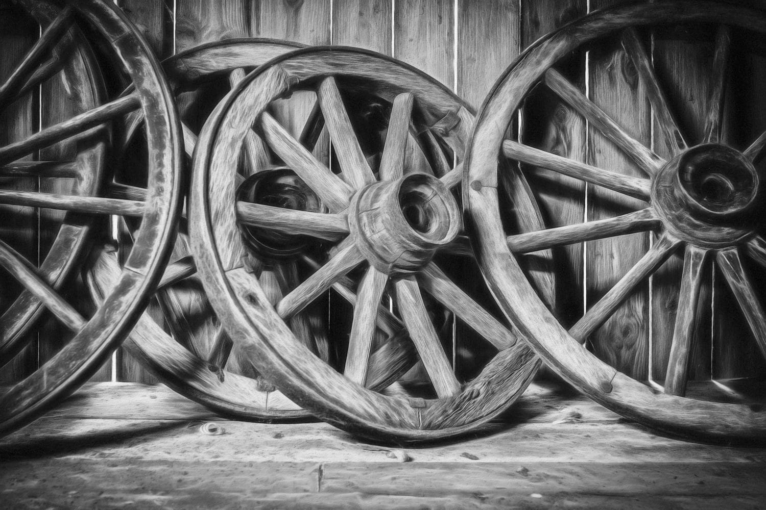 The Old Wooden Wheel